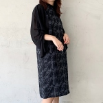 【mintdesigns】FLOWER JQ DRESS