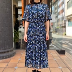 【LOKITHO】FLOWER EMBROIDERED DRESS